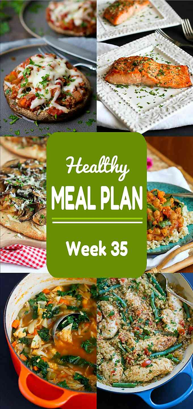 Healthy Meal Plan, Week 35 - Meat and Meatless Recipes