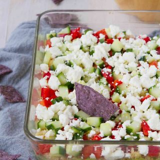 Healthy Quinoa Guacamole 7-Layer Dip