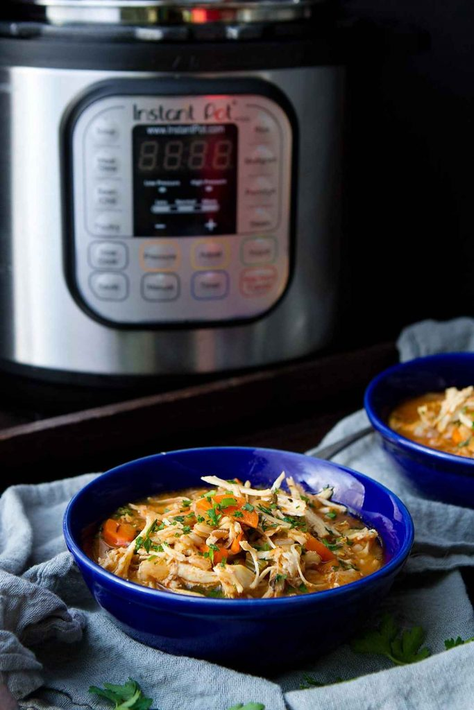 Use your Instant Pot to make this easy, delicious Chicken Stew with Farro. Stovetop instructions also included. 336 calories and 4 Weight Watchers Freestyle SP