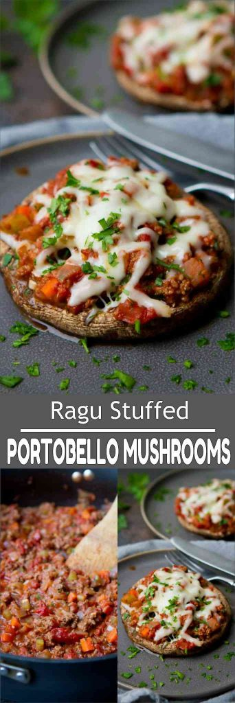 You can never have too many healthy stuffed portobello mushroom recipes, and this ragu version if perfect for easy dinners! 193 calories and 3 Weight Watchers Freestyle SP