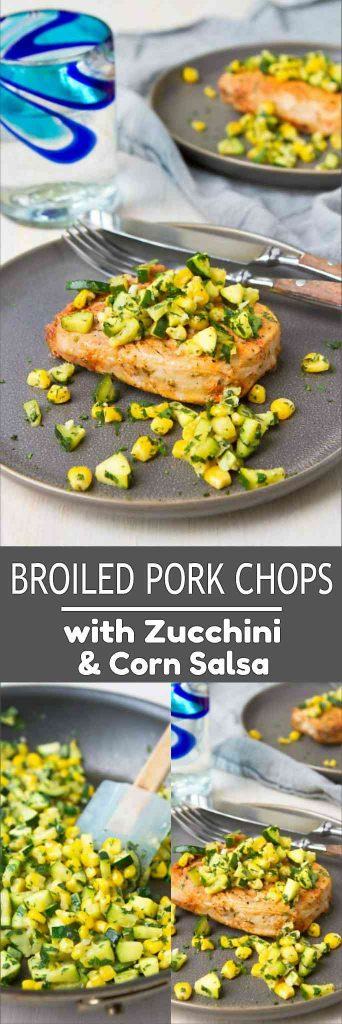 Add this recipe for broiled pork chops to your weeknight arsenal. This easy, healthy recipe comes together in about than 30 minutes. 323 calories and 4 Weight Watchers Freestyle SP