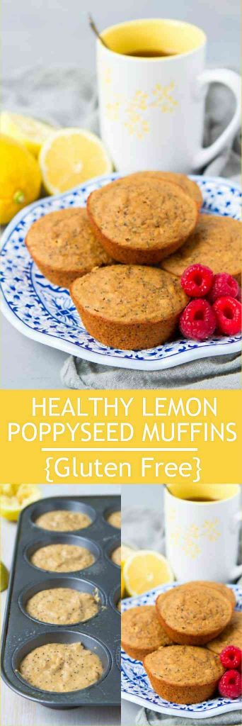 Whip up a batch of these healthy and easy lemon poppy seed muffins for easy breakfast and snacks. They are also gluten free. 128 calories and 4 Weight Watchers Freestyle SP