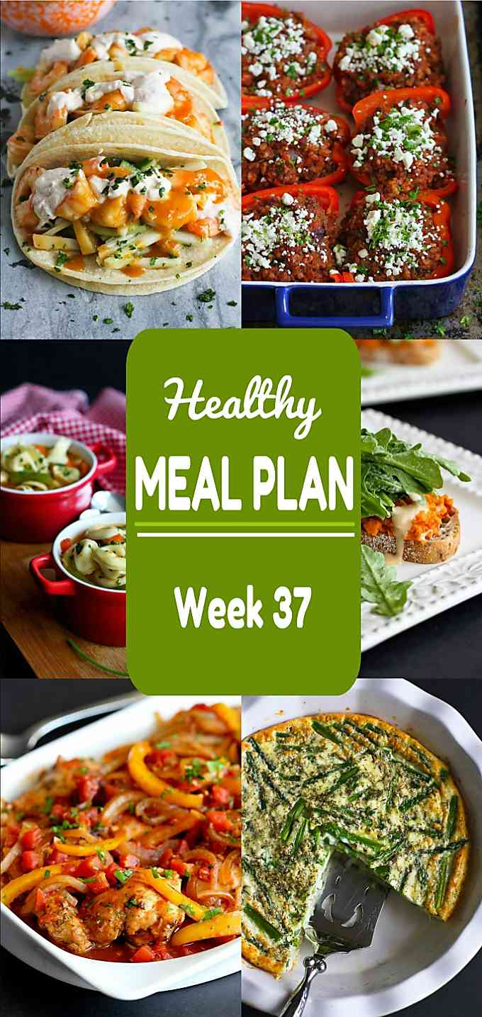 Healthy Meal Plan, Week 37 - Meat and Meatless Recipes