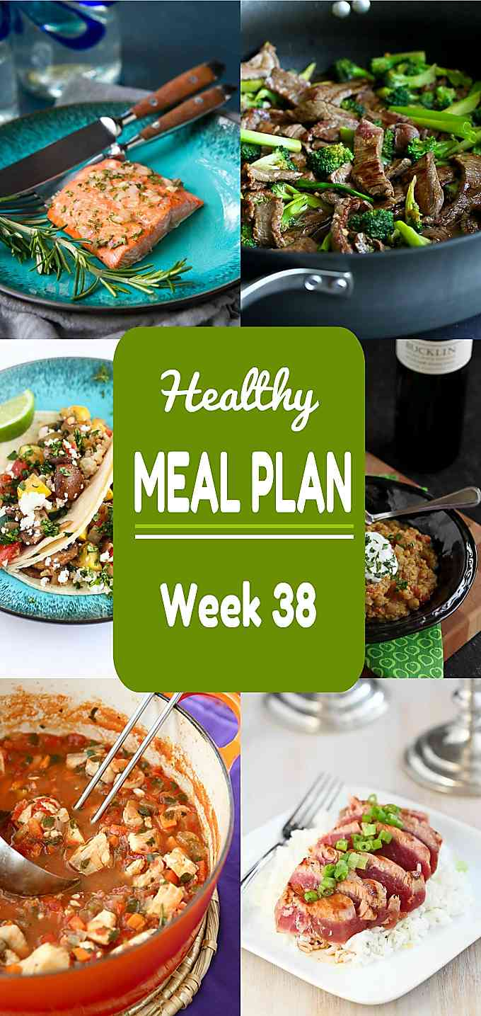 Healthy Meal Plan, Week 38 - Meat and Meatless Recipes