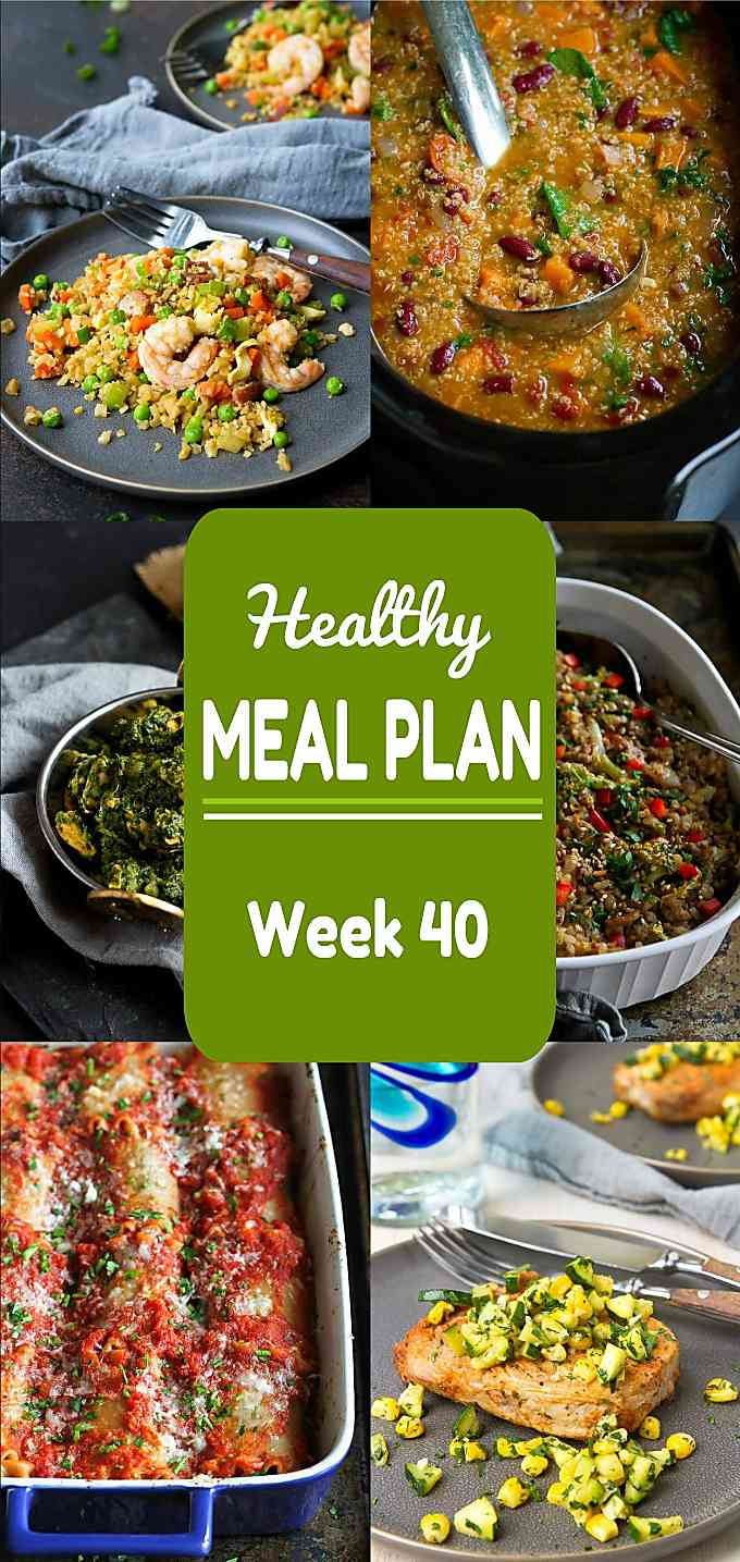 Healthy Meal Plan, Week 40 - Meat and Meatless Recipes