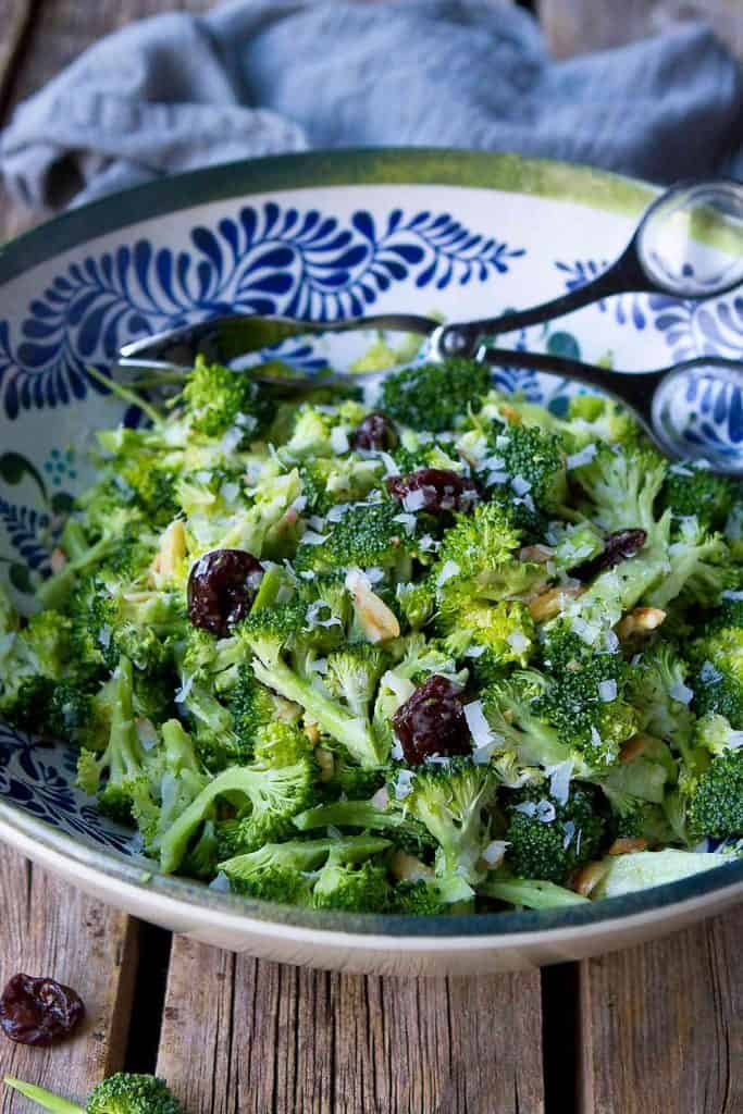 Broccoli Salad With Dijon Vinaigrette Healthy Potluck Salad