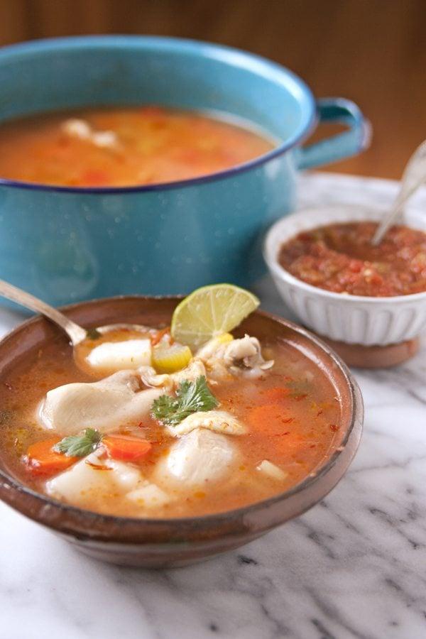 Caldo de Pollo (Homemade Chicken Soup) by Muy Bueno