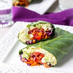Curry Egg Salad Collard Green Wraps