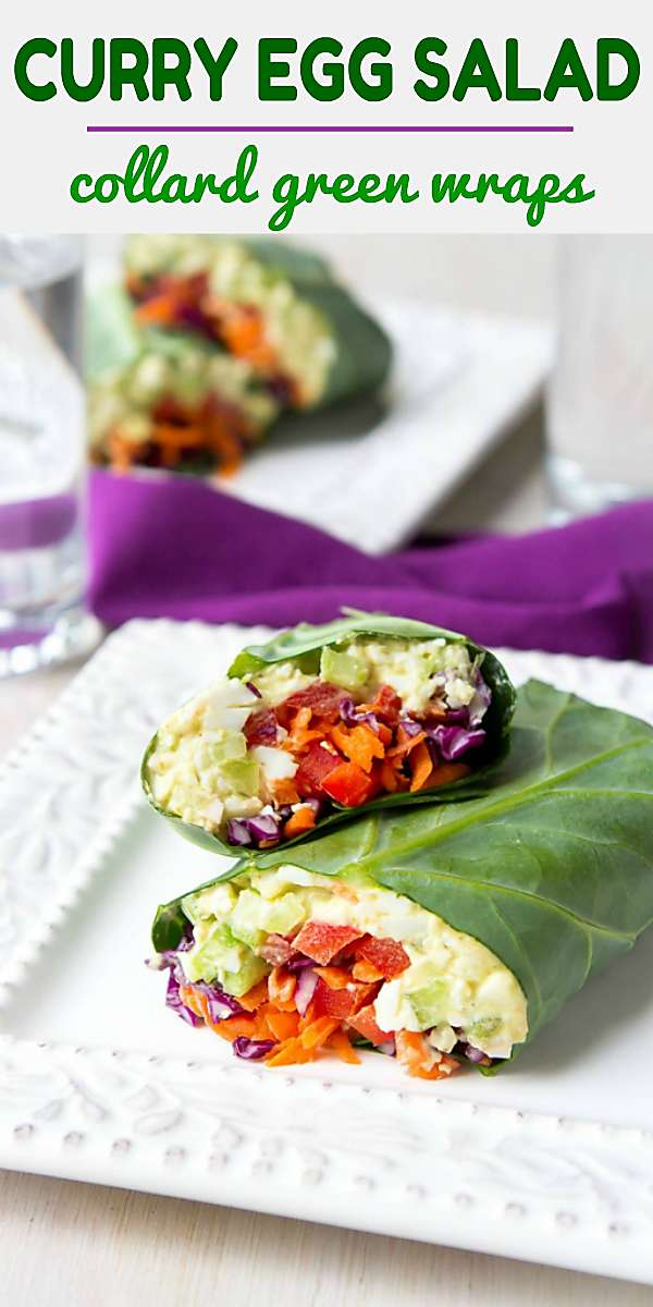 Serve up these curry egg salad collard wraps for a light lunch or pack them on your next picnic! 152 calories and 0 Weight Watchers Freestyle SP