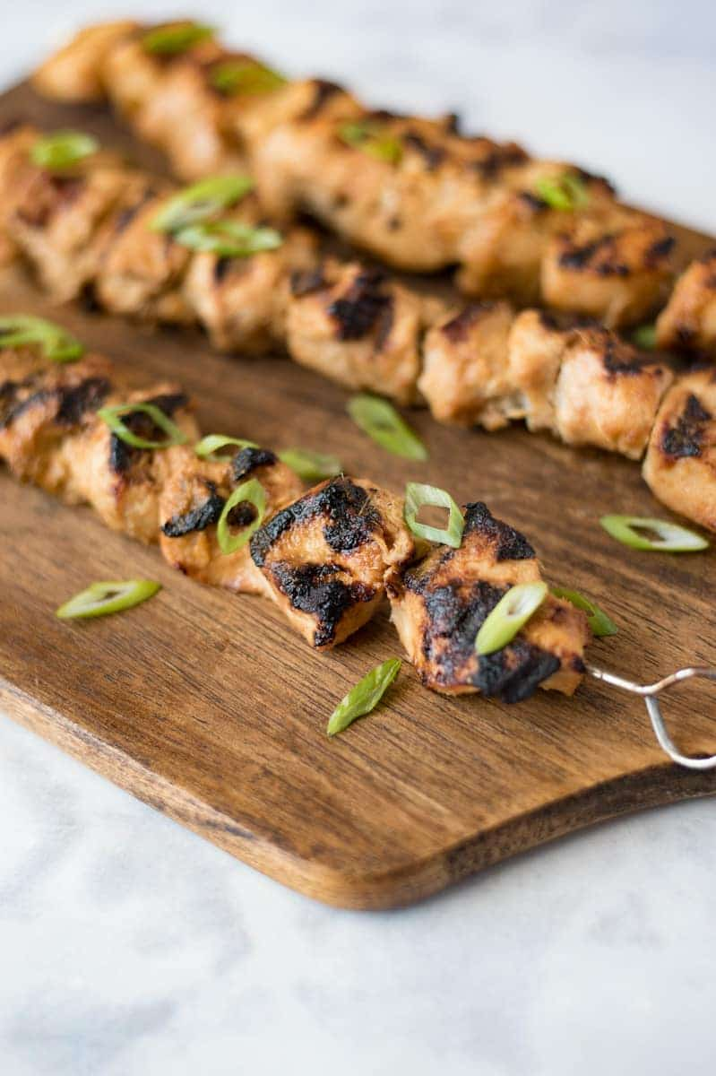 Grilled Lemongrass Chicken Skewers by Culinary Ginger