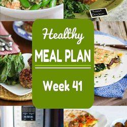 Healthy Meal Plan {Week 41}