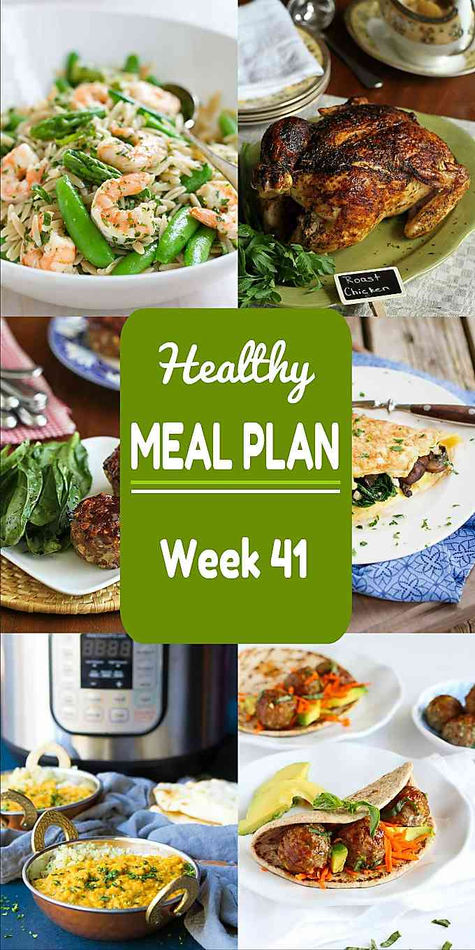Healthy Meal Plan, Week 41 - Meat and Meatless Recipes
