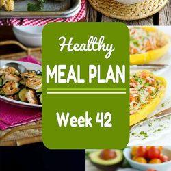 Healthy Meal Plan {Week 42}
