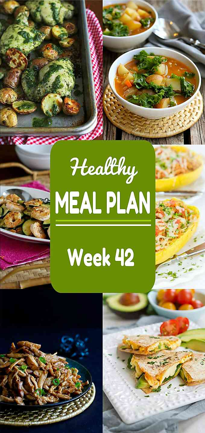 Healthy Meal Plan, Week 42 - Meat and Meatless Recipe