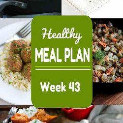 Healthy Meal Plan {Week 43}