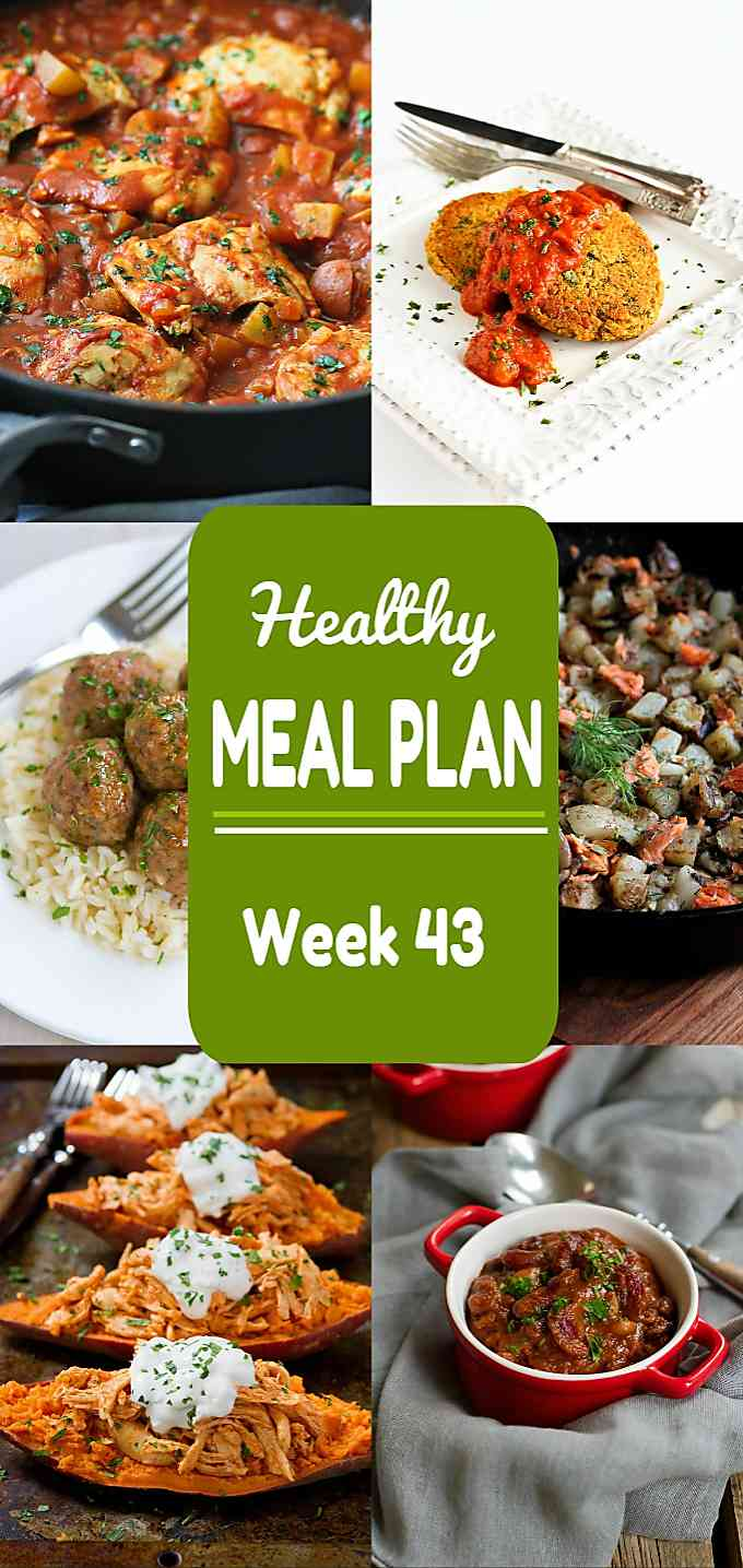 Healthy Meal Plan, Week 43 - Meat and Meatless Recipes