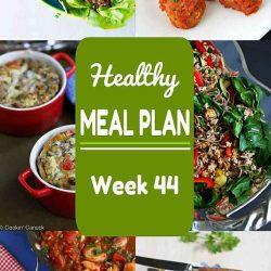 Healthy Meal Plan {Week 44}