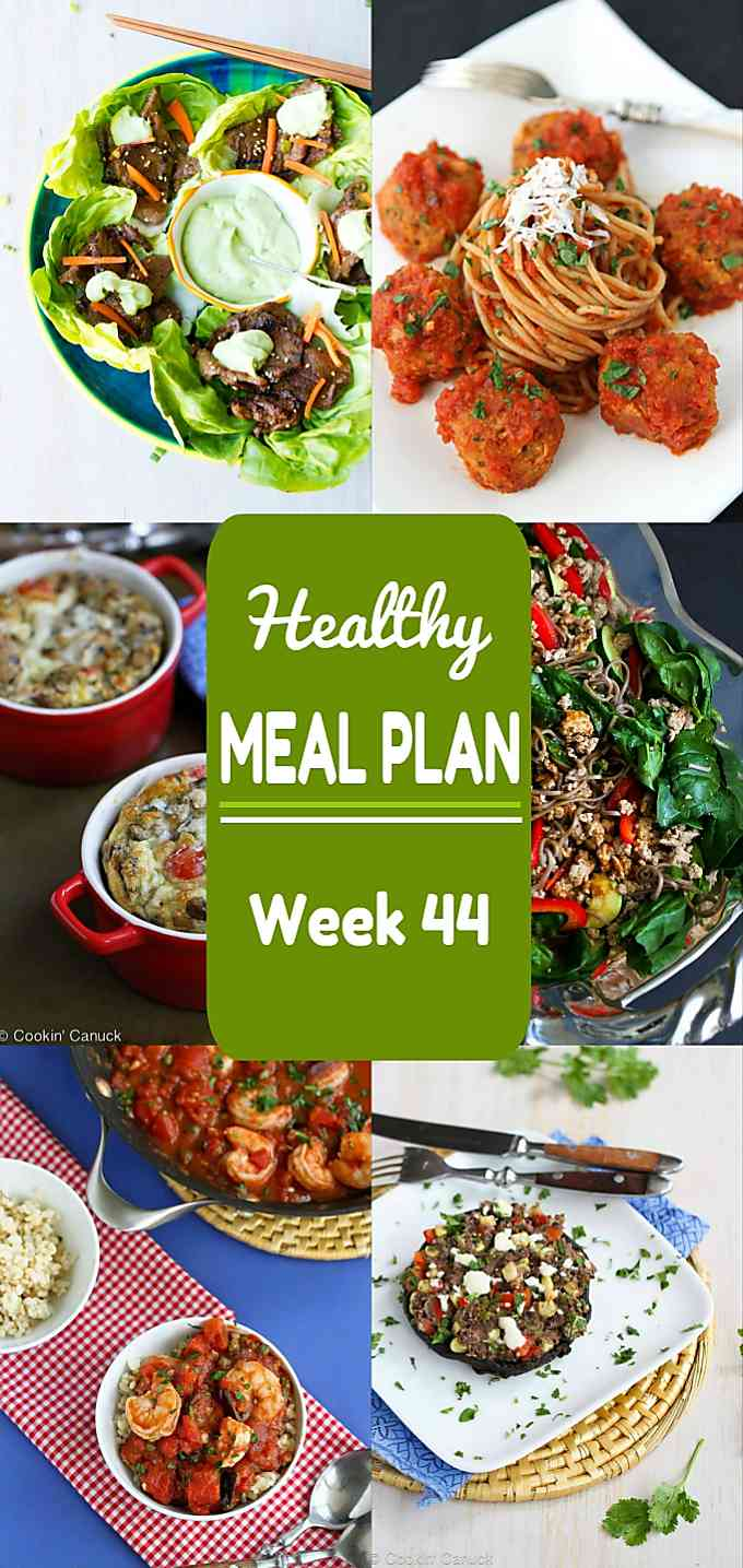 Healthy Meal Plan Week 44 - Meat and Meatless Recipes