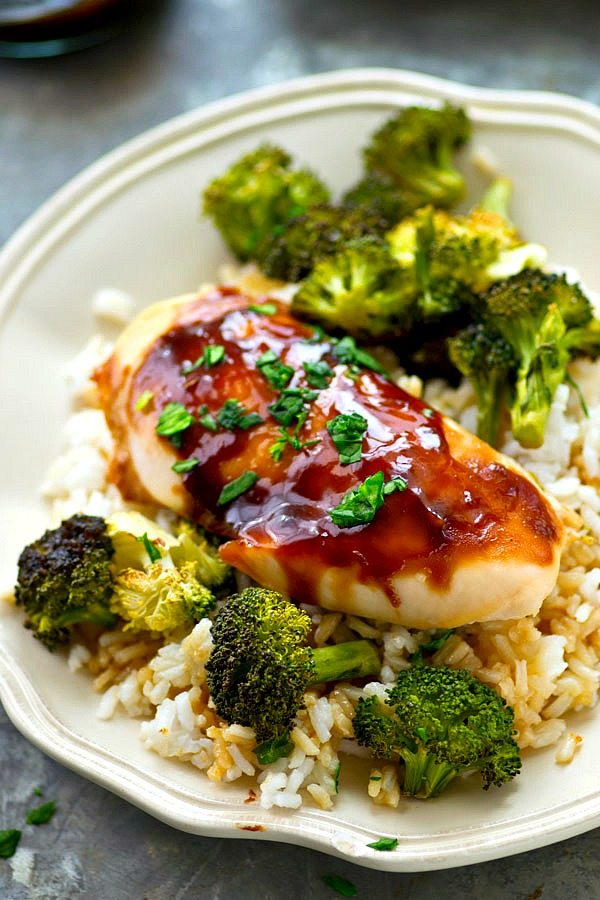 Sheet Pan Teriyaki Chicken and Roast Broccoli by Whole and Heavenly Oven