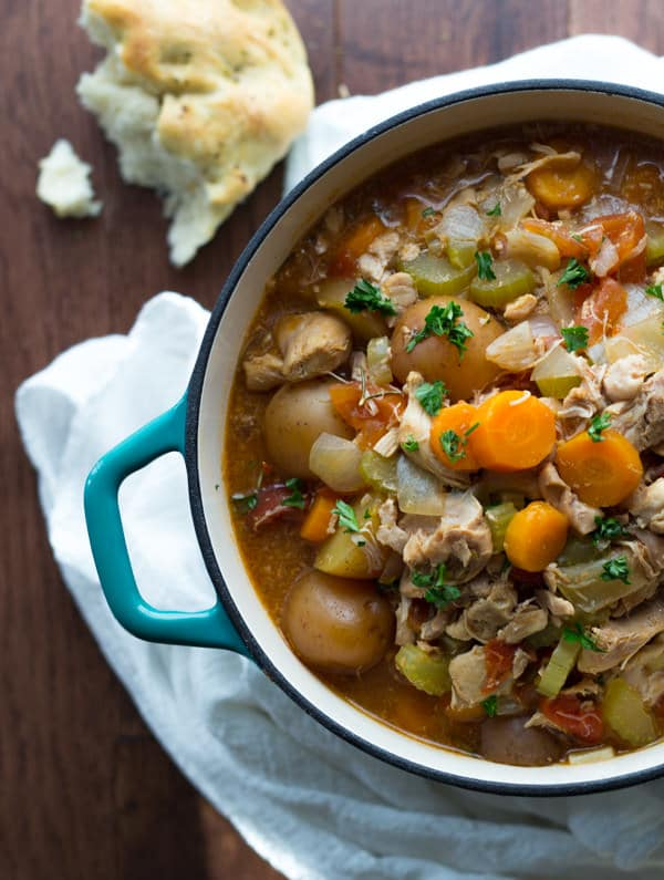Slow Cooker Tuscan Chicken Stew by Sweet Peas and Saffron
