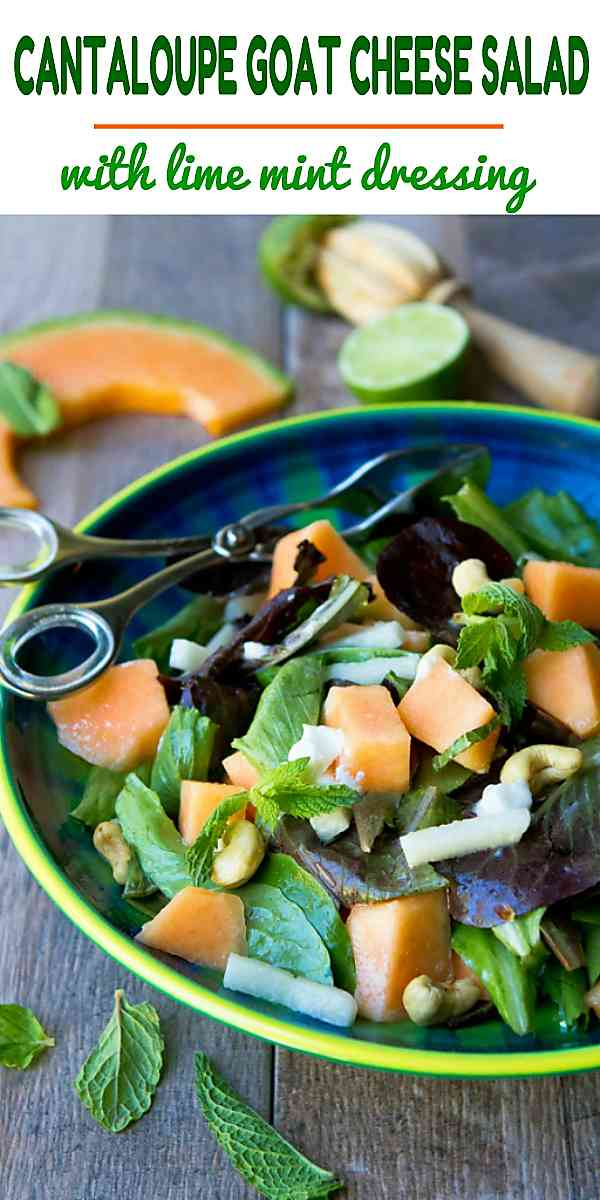 Goat cheese salads are always popular! This one pairs sweet cantaloupe with the tangy, creamy cheese and a citrus dressing. 174 calories and 3 Weight Watchers Freestyle SP