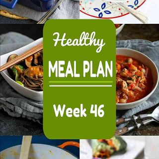 Healthy Meal Plan, Week 46 - Meat and Meatless Recipes