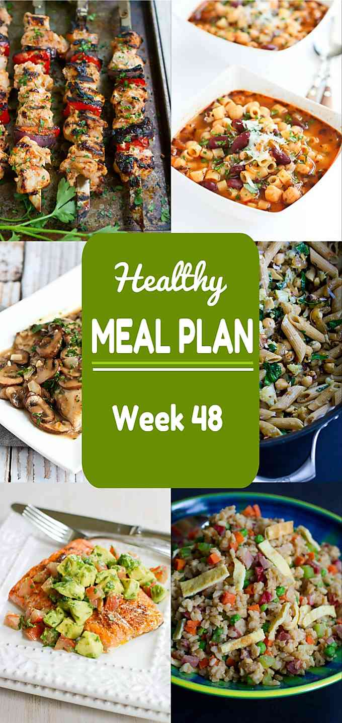 Healthy Meal Plan, Week 48 - Meat and Meatless Recipes