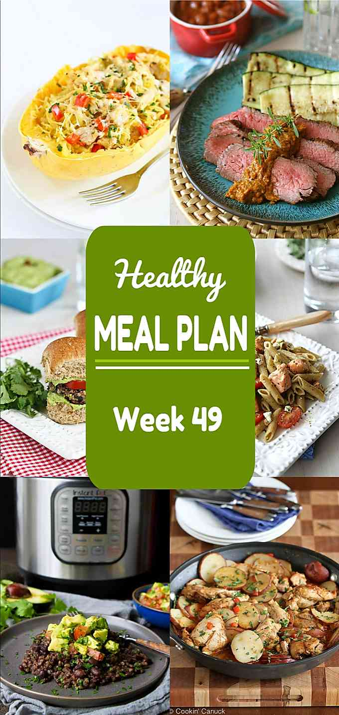 Healthy Meal Plan, Week 49 - Meat and Meatless Recipes