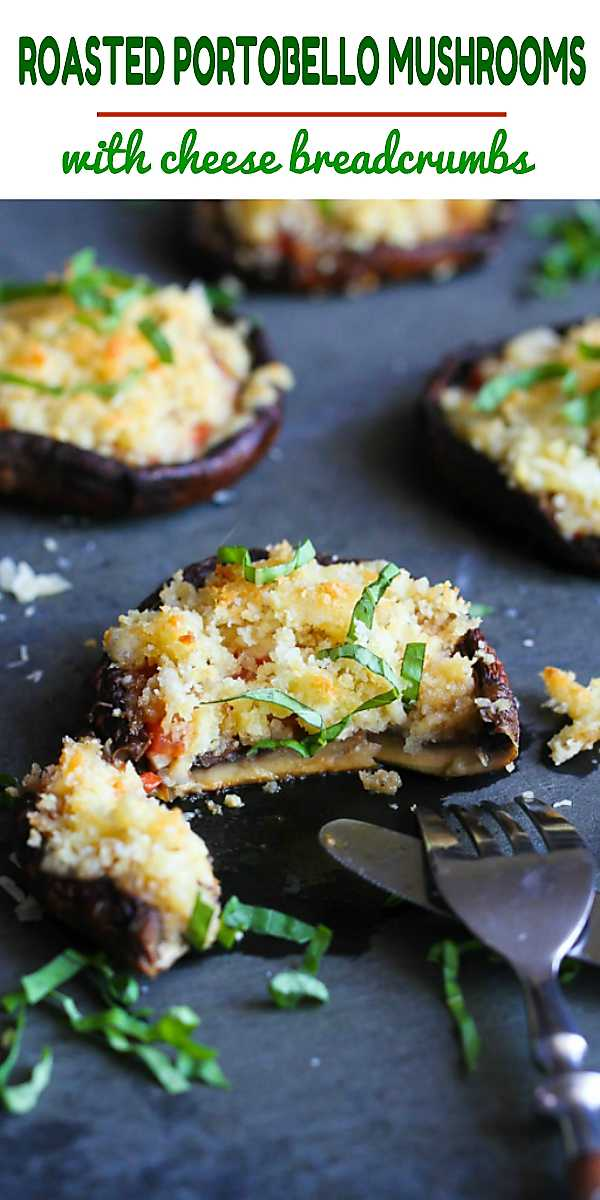 Serve up this roasted portobello mushroom recipe as appetizer or entree. Packed with tomato and topped with cheesy, crunchy breadcrumbs. 109 calories and 3 Weight Watchers Freestyle SP