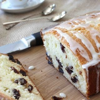Easy and positively addictive, this glazed lemon and dried cherry quick bread is fantastic for brunch or an afternoon treat.
