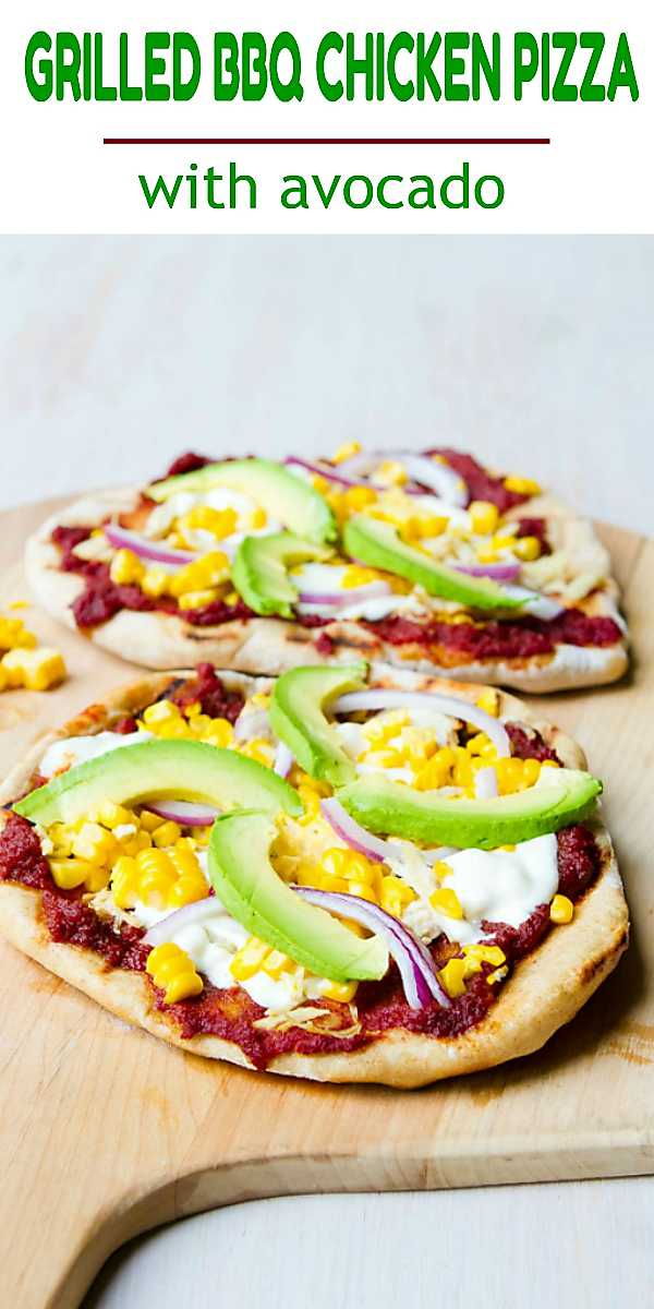 There's nothing like the taste and texture of grilled pizza! This bbq chicken version is topped with fresh avocado. 296 calories and 8 Weight Watchers Freestyle SmartPoints