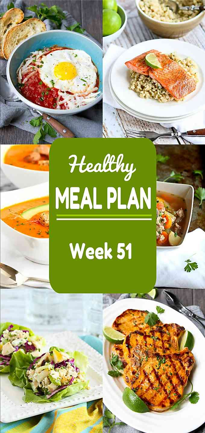 Healthy Meal Plan, Week 51 - Meat and Meatless Recipes