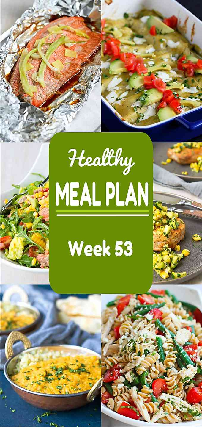 Healthy Meal Plan, Week 53 - Meat and Meatless Recipes