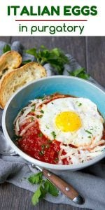 Have you ever tried Eggs in Purgatory? If not, stop what your doing and make this immediately for breakfast, lunch or dinner! Easy, healthy and delicious - plus it comes together in less than 15 minutes. 240 calories and 3 Weight Watchers Freestyle SP