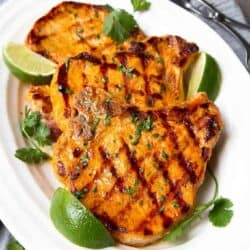 Thai Curry Grilled Pork Chops