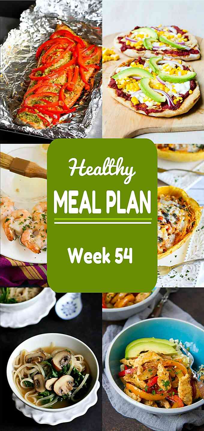 Healthy Meal Plan, Week 54 - Meat and Meatless Recipes