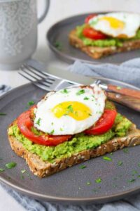 Every single morning! Packed with protein, fiber and healthy fat, avocado toast with egg and tomato is an easy and satisfying way to kick off the day! 349 calories and 3 Weight Watchers Freestyle SP