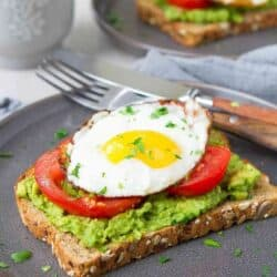 Avocado Toast with Egg & Tomato