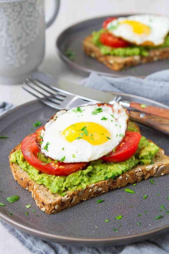 Every single morning! Packed with protein, fiber and healthy fat, avocado toast with egg and tomato is an easy and satisfying way to kick off the day! 349 calories and 3 Weight Watchers Freestyle SP #avocado #toast #breakfast #cleaneating