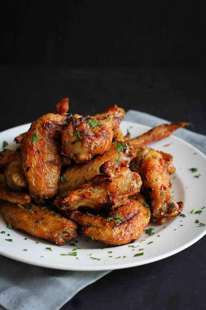 Grilled Chicken Wings Recipe With Rosemary Amp Garlic Cookin Canuck