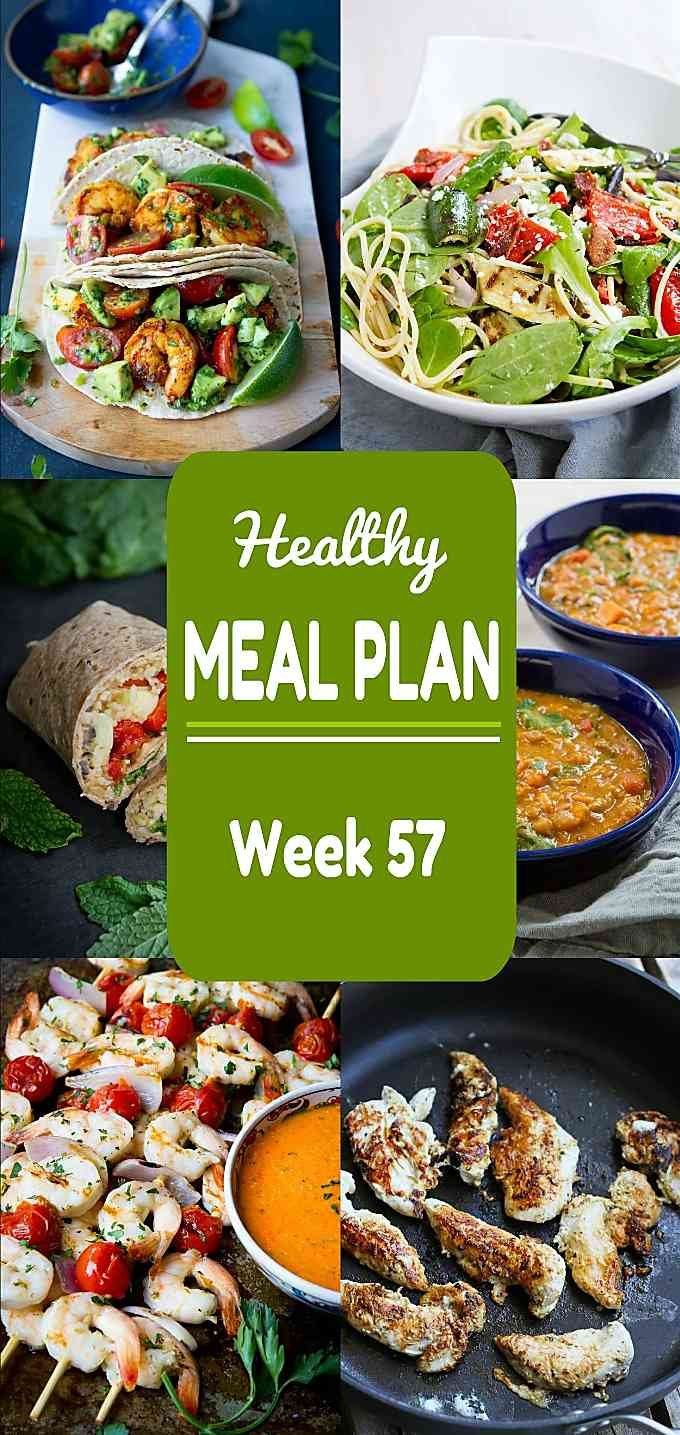 Healthy Meal Plan, Week 57 - Meat and Meatless Recipes