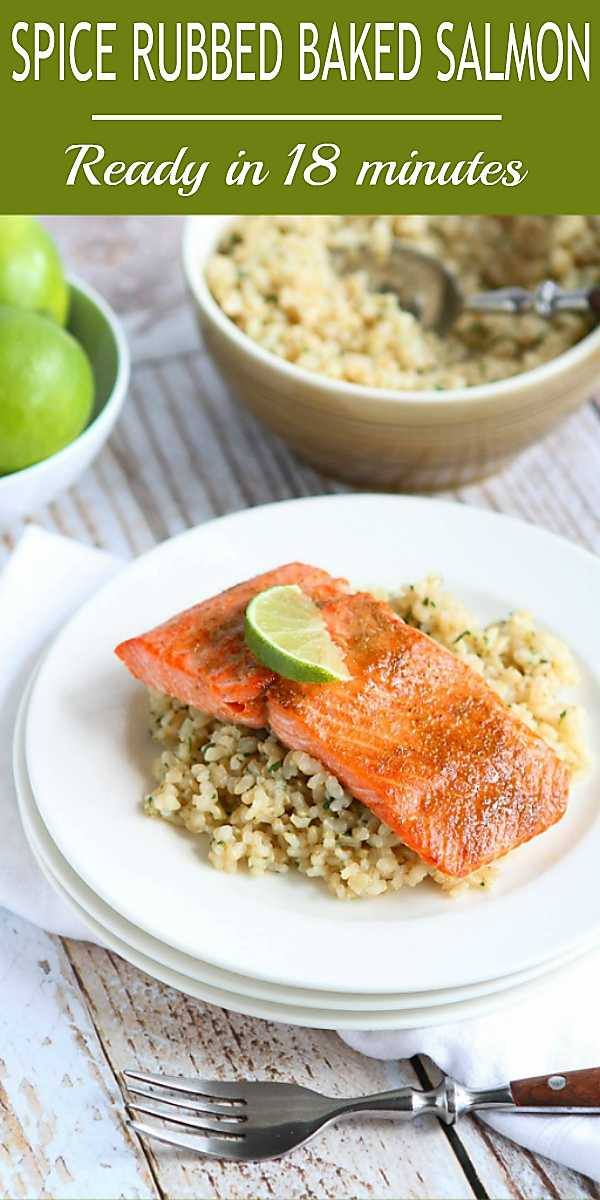Quick and healthy dinner recipe! This baked salmon is one my go-to weeknight meals. 234 calories and 1 Weight Watchers Freestyle SP #salmon #healthy #recipe