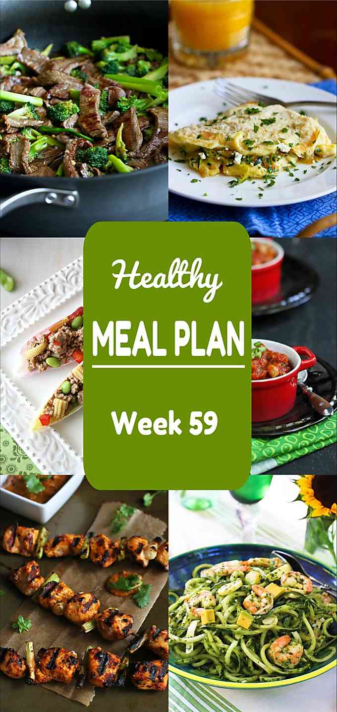 Healthy Meal Plan, Week 59 - Meat and Meatless Recipes