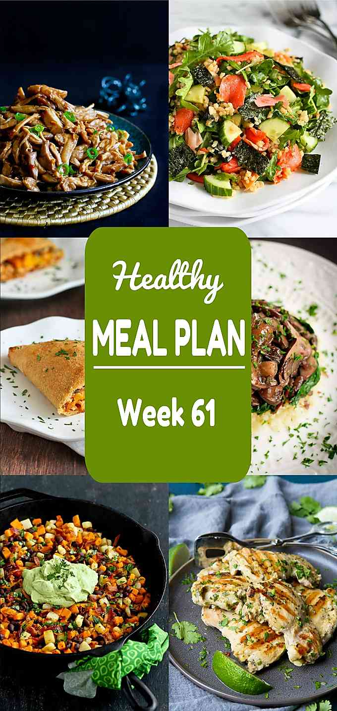 Healthy Meal Plan, Week 61 - Meat and Meatless Recipes