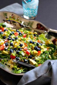 This ultimate summer salad is filled with a fantastic mix of summertime fruits and vegetables, and is topped with a creamy, low-calorie buttermilk dill dressing. 134 calories and 1 Weight Watchers Freestyle SP