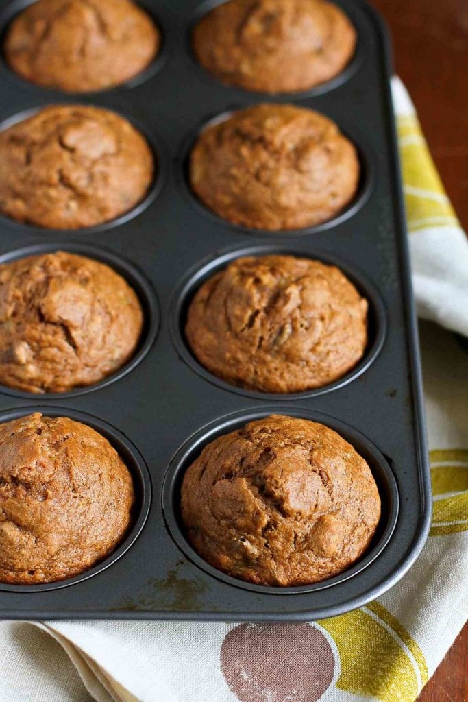 Whole Wheat Banana Nut Muffins Recipe...Great for breakfast or healthy snacking!