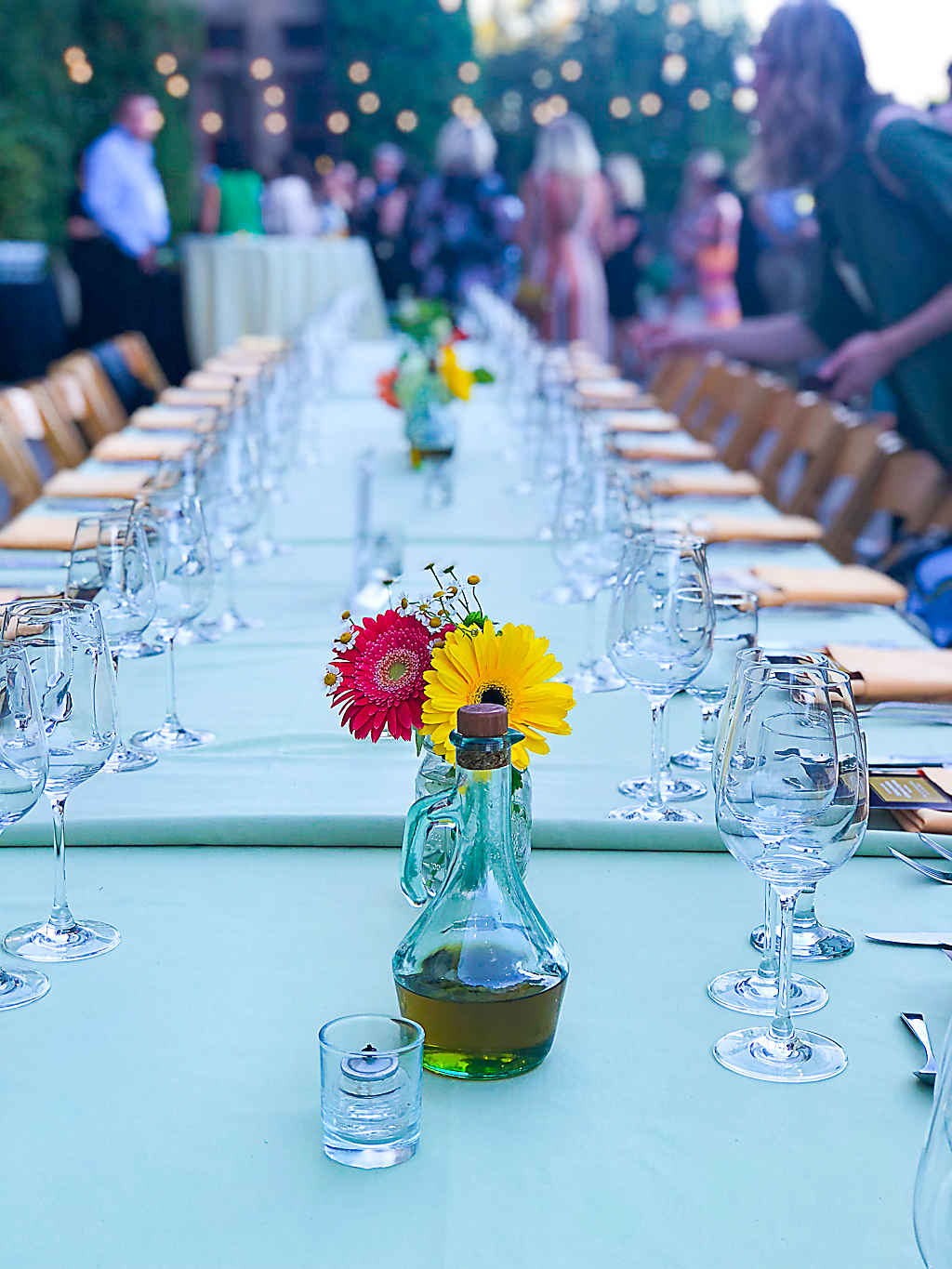 Table setting at Culinary Institute of America