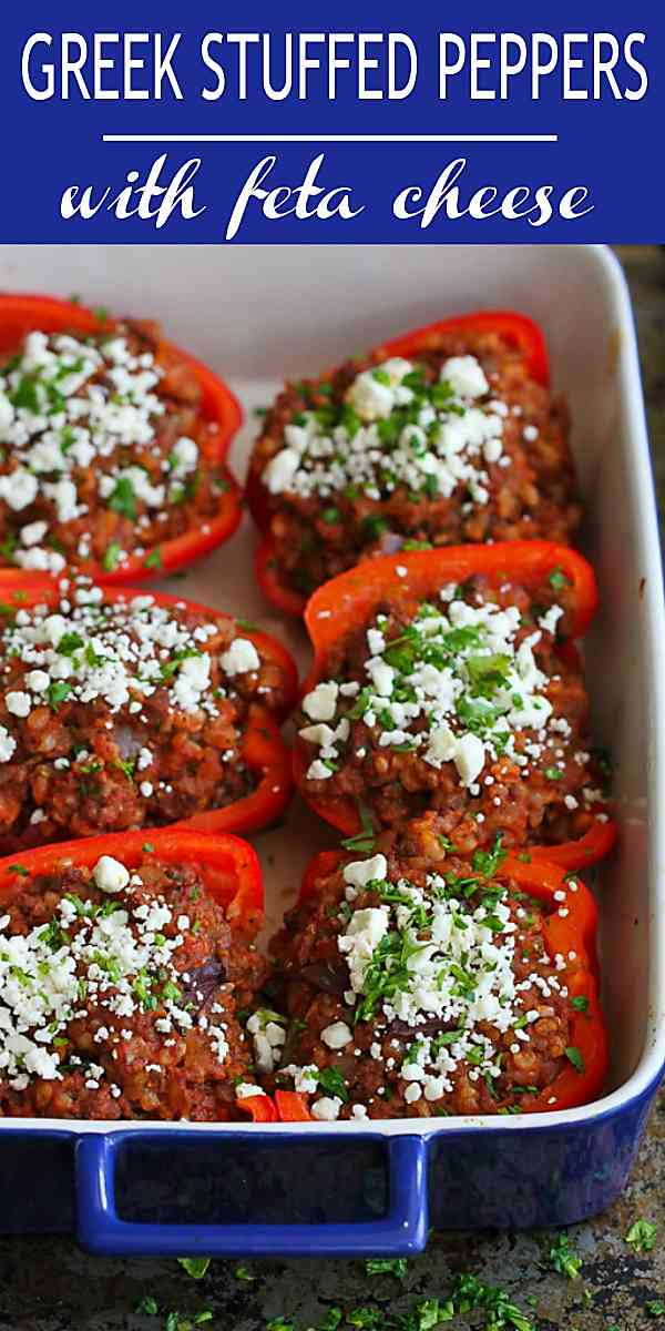 One of my family's favorite dinners! These Greek Stuffed Peppers are both flavorful and healthy. 226 calories and 5 Weight Watchers Freestyle SP #peppers #cleaneating #healthy