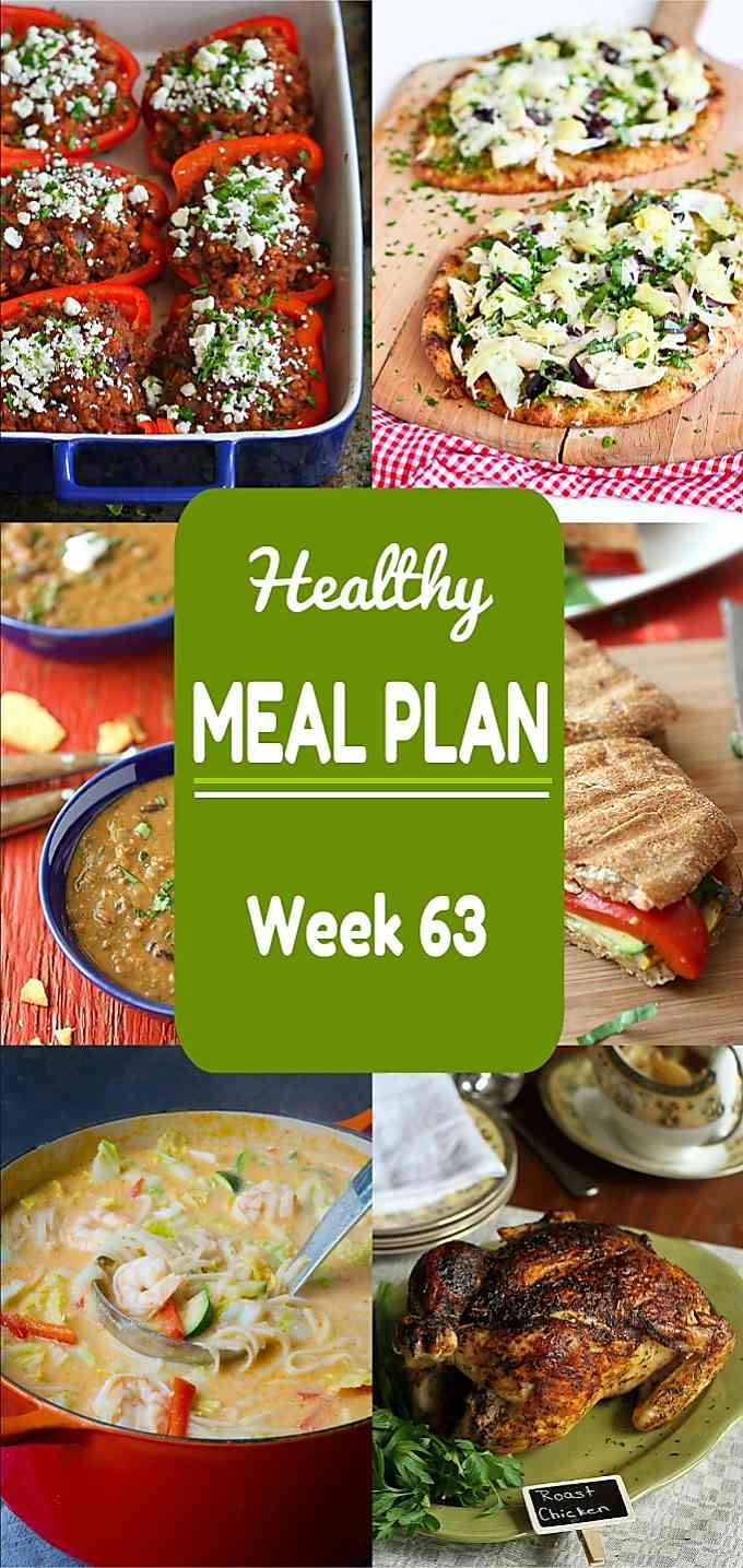 Healthy Meal Plan, Week 63 - Meat and Meatless Recipes