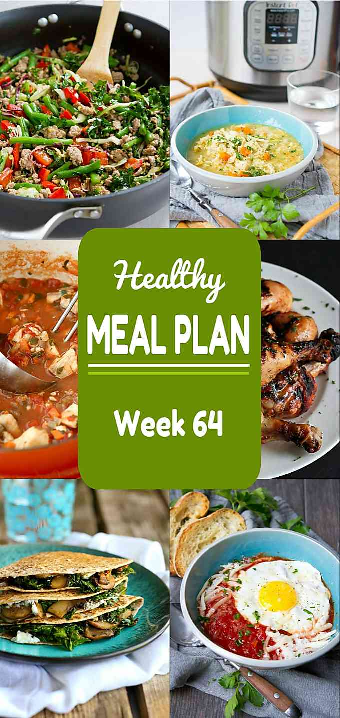 Healthy Meal Plan, Week 64 - Meat and Meatless Recipes